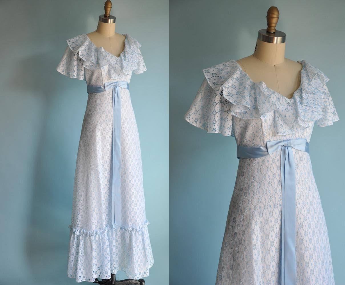 Vintage 1960s Robbins Egg Blue Gunny Sack Dress