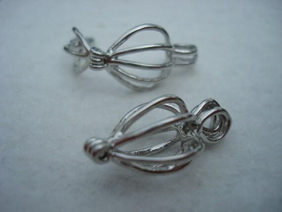 Rounded Heart Shaped Caged/Captive Bead Fillable Locket - Set of 2