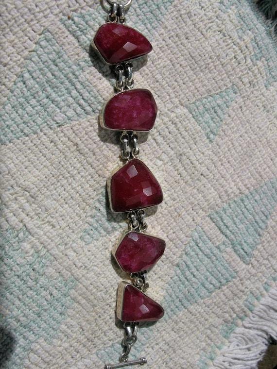 Ruby Sterling Silver Bracelet - IMPRESSIVE