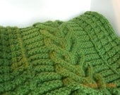 Knit Afghan, Celtic Inspired, Textured, Cozy & Warm .....................PRICE REDUCED