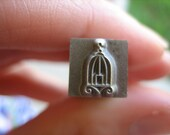 USED 6mm Bird Cage Design Stamp -- Hand Stamping Tools