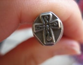 USED 6mm Fancy Cross Design Stamp -- Hand Stamping Tools