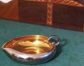 Vintage Silver Lustre and Gold Lustre Porcelain Sauce Boat or Bonbon Dish
