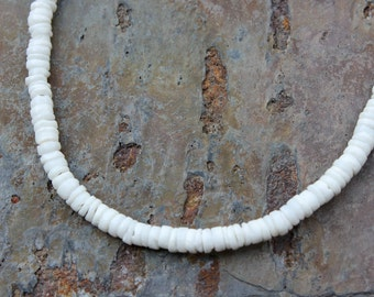 Necklace: ROUND White Litub Shells