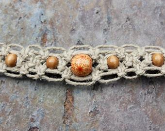 Hemp Necklace: Alternating Square Knot