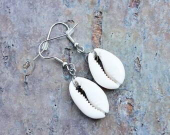 Earrings: Cowrie Shells