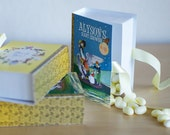 Mother Goose Favors, Nursery Rhymes Candy Boxes in the shape of a Book (PRIVATE SALE FOR micheleb57)