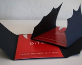 Vampire Bat Invitation for Halloween or Costume Party (PRIVATE SALE FOR amc0427)