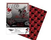 Alice in Wonderland Invitation Goth (PRIVATE SALE FOR Tina Roman)