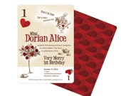 Alice in Wonderland Invitation Playing Card