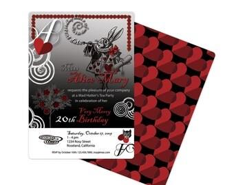 Alice in Wonderland Invitation Goth