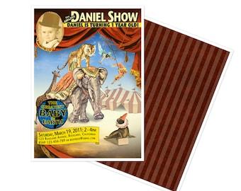 Vintage Circus Poster Birthday Invitation