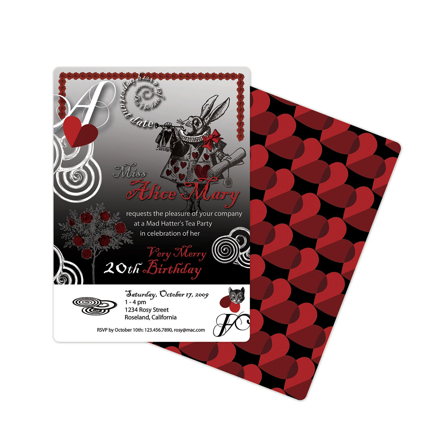 Playing card invite – Playing Card Invitation