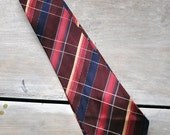 VTG 1930s burgundy striped tie
