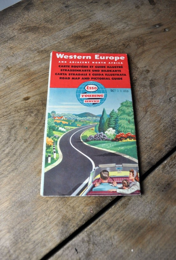1950s Esso Western Europe map