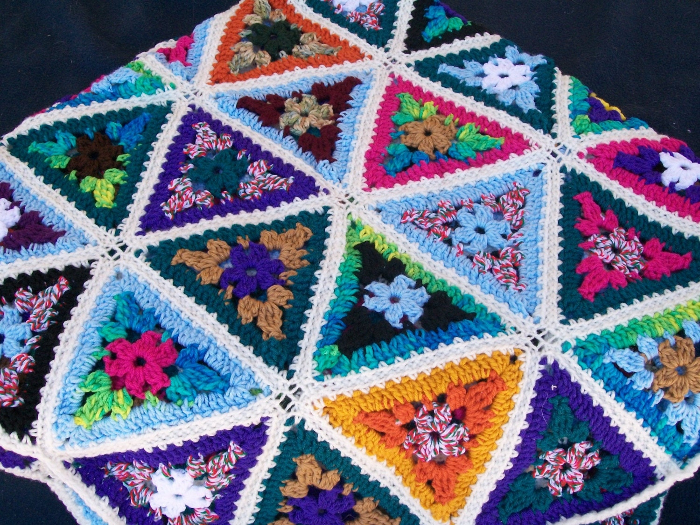 Triangle Scrap Yarn Afghan