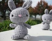 ONE Amigurumi Gray Bunny