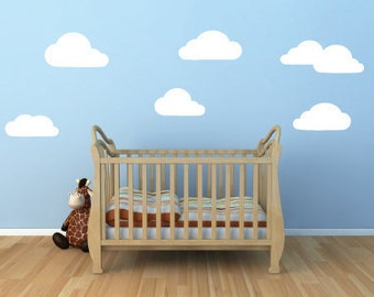 Clouds Vinyl Wall Decal for Baby's Nursery - Clouds Decal - Cloud Stickers - Child's Room Clouds - Baby's Room Clouds