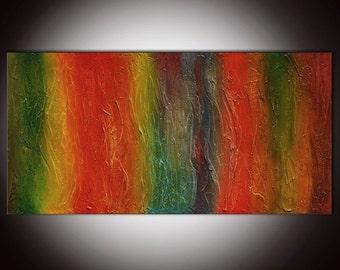 Large Abstract painting, orange painting, orange green modern art, orange painting, large abstract, painting on canvas, large wall art