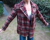 Plaid Sears Boyville Coat