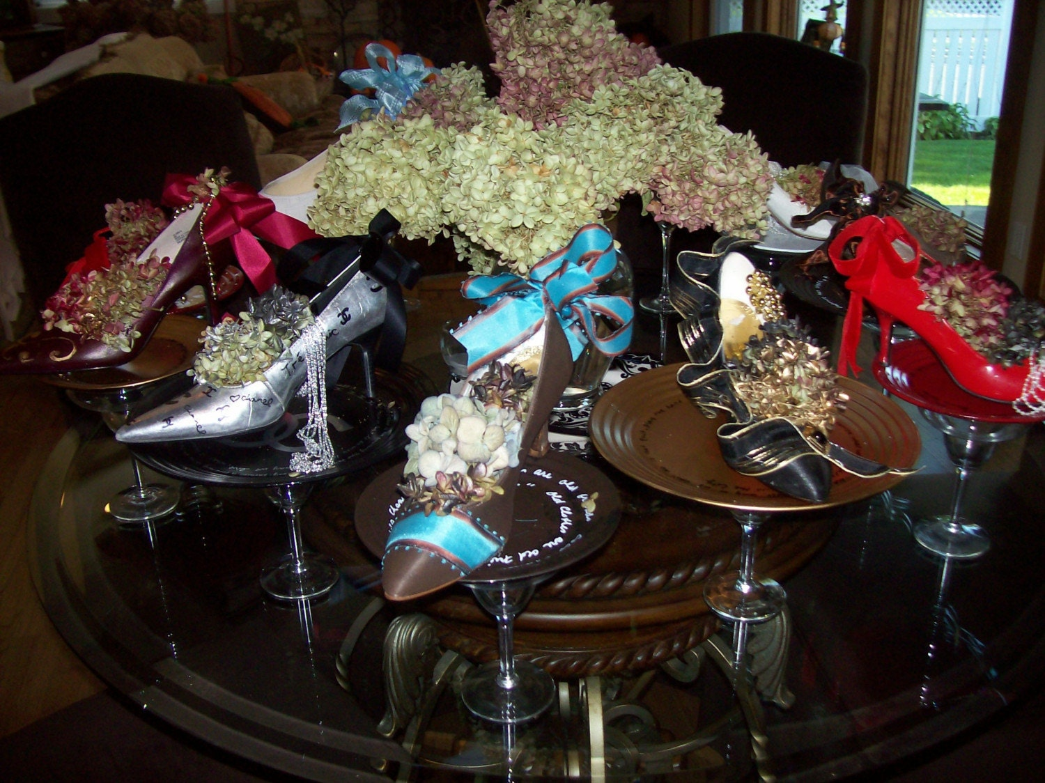 Shoe Centerpieces Reserved For Mary