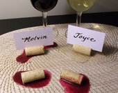 Spilled Wine Placecard Holders