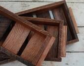 SALE 3 reclaimed Oak Nesting Garden Boxes