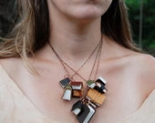Autumnal Library Book Necklace by Peg and Awl