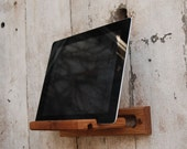 iPad Easel: Reclaimed wood, wall mount and desktop - PegandAwl