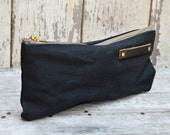 Waxed Canvas Pouch: Coal by Peg and Awl