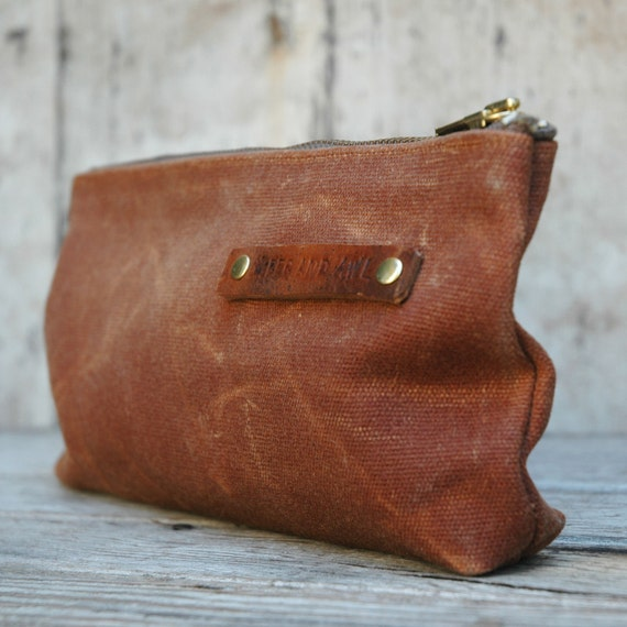 Waxed Canvas Pouch: Spice by Peg and Awl