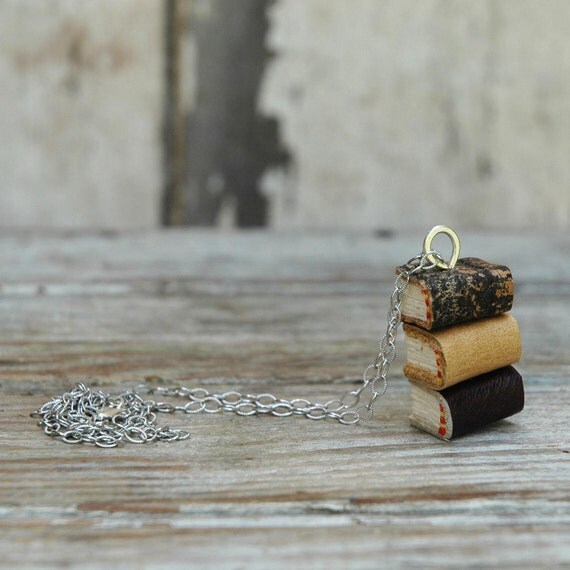 Stacks Book Necklace: Indian Summer Trio by Peg and Awl