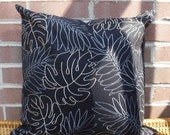 Decorative Pillow Cover: Designer Embroidery 18 X 18 Accent Throw Pillow Cover in Khaki