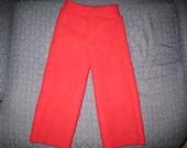 Red Medium to Large Wool Longies Repurposed Lambswool