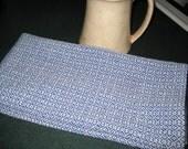 Handwoven Cotton Kitchen Towel Royal Blue Twill