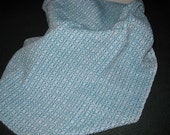 Handwoven Cotton Kitchen Towel Turquoise Blue Twill
