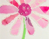 Recycled Flower Collage - Bright Pink