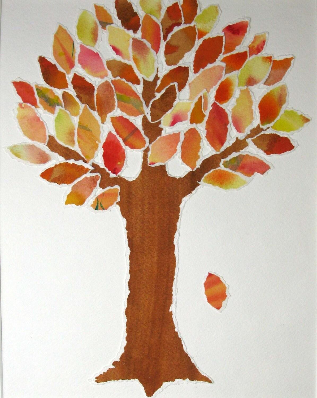 Brown paper tree