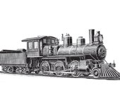 Train 10 Boy's Nursery Bedroom Playroom Wall Art