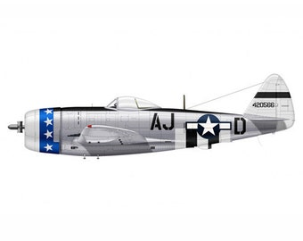 Bomber 13 Airplane Boy's Nursery Playroom Wall Art