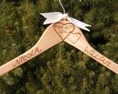 ARTSY Personalized Rustic Wedding Bridal Hanger
