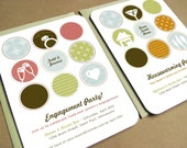 Modern Party Invitation - Housewarming or Engagement