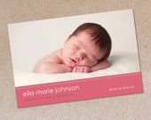 Simple Beauty - Photo Birth Announcement - Baby Girl or Baby Boy