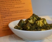 Saag (Spinach) Paneer/Tofu Curry Indian Spice Blend Packet, Recipe, and Shopping List
