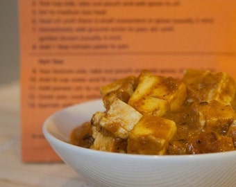 Masala Paneer/Tofu Curry Indian Spice Blend Packet, Recipe, and Shopping List