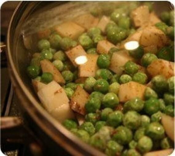 Aloo Matar (Potato & Pea) Sabji Indian Spice Blend Packet, Recipe and Shopping List