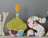 Birthday decoration letters, wish