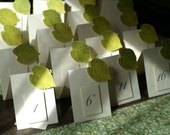 Green Leaf Table Numbers for Spring or Summer - Events - Weddings - Graduations - Holidays - Celebrations - Seating