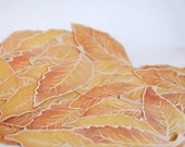 Fall Elm Leaf Cut Outs - Hand cut prints of original watercolor paintings