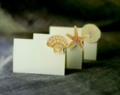 Shell Set - Place Card - Gift Card - Escort card- Table Number Card - Menu Card -weddings events